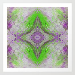 Psycho - Green Slime and Purple Fancy in a Reptile Universe by annmariescreations Art Print