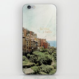 la vita è bella iPhone Skin