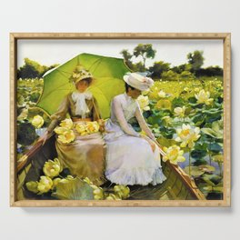 Charles Courtney Curran - Lotus Lilies - Digital Remastered Edition Serving Tray