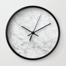 White Marble #629 Wall Clock