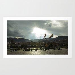 Majestic sun  Art Print