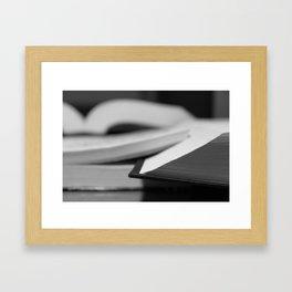 The Book Framed Art Print