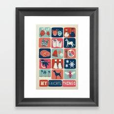 Favorite Things Framed Art Print