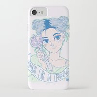 magical girl iPhone & iPod Cases featuring MAGICAL GIRL IN TRAINING by Natalie Nardozza