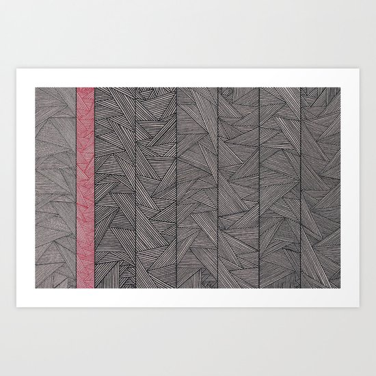 Red Stripe Art Print