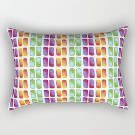 Color pops in Watercolor Rectangular Pillow