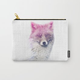 FOX SUPERIMPOSED WATERCOLOR Carry-All Pouch