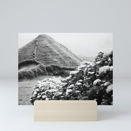 Black and white landscape Mini Art Print