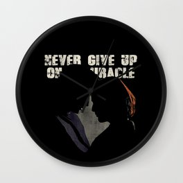 The X-Files - Never Give Up On A Miracle Wall Clock