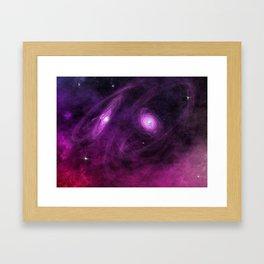 Death of two stars  Framed Art Print