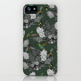 Hummingbirds and Bees (don't let them fade away) iPhone Case