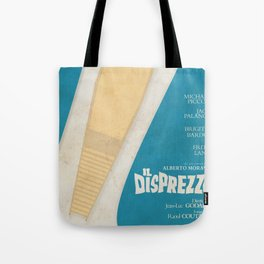 Le mépris, Contempt, Brigitte Bardot, Jean-Luc Godard, french movie poster, new wave, cinema Tote Bag