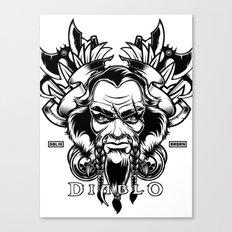Diablo III. Barbarian Canvas Print