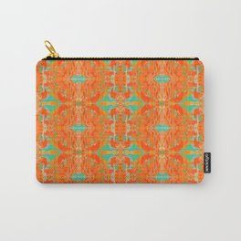 Vibrant Orange & Turquoise Pattern Carry-All Pouch