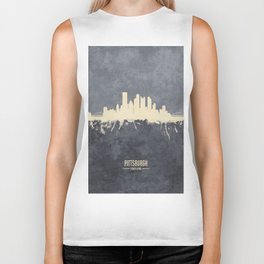 Pittsburgh Pennsylvania Skyline Biker Tank