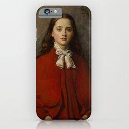 John Everett Millais - Bright Eyes iPhone Case