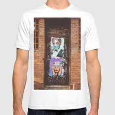 Fly Level MEDIUM White Mens Fitted Tee