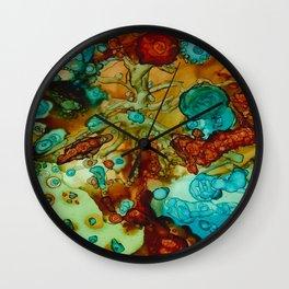 flora beginnings Abstract Wall Clock