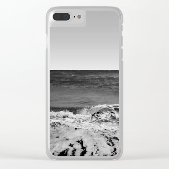 BEACH DAYS XVI BW Clear iPhone Case