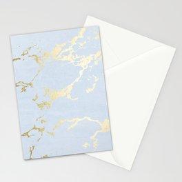 Kintsugi Ceramic Gold on Sky Blue Stationery Cards