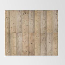 Wood Planks Light Throw Blanket