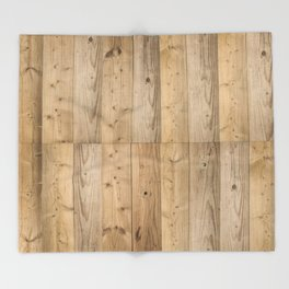 Wood Planks Light Throw Blanket