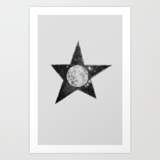 Moon & Star Art Print