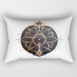 Saraswati Mandala White Rectangular Pillow