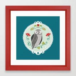 Piccola Damigella Gufo Framed Art Print