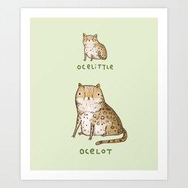 Ocelittle Ocelot Art Print