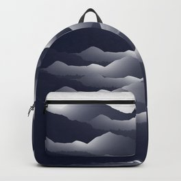 Navy Blue Mountains #2 #decor #art #society6 Backpack