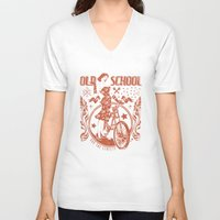 old school V-neck T-shirts featuring Old school by Tshirt-Factory