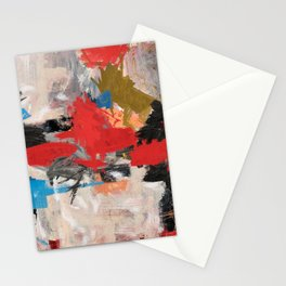 Abstract Expressionism Painting Stationery Cards