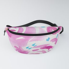 6  |  190413 Flower Abstract Watercolour Painting Fanny Pack