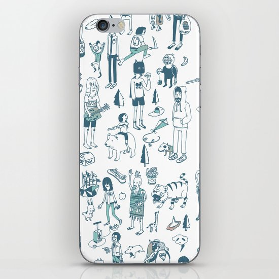 Crowd Pattern iPhone & iPod Skin
