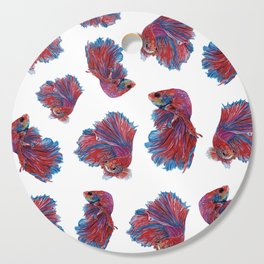 Ocean Theme- Red Blue Betta Fish Cutting Board