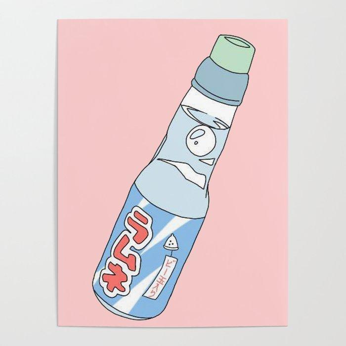 Kawaii Ramune Soda Drink Poster