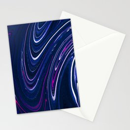 Splashes, Abstraction, Beautiful Blue Paint Stationery Cards