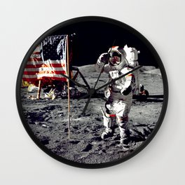 Salute on the Moon Wall Clock