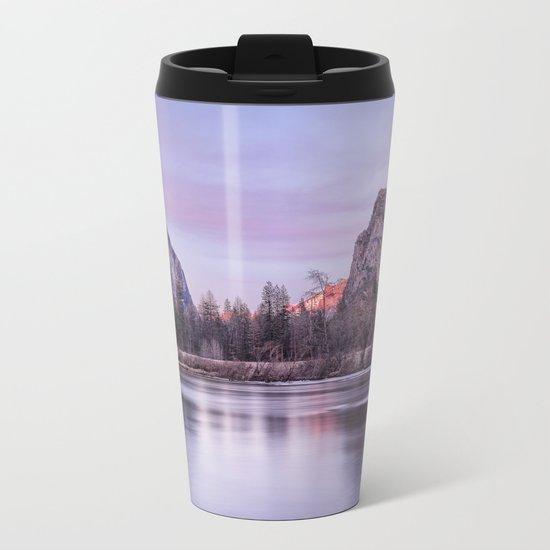 Yosemite National park sunset Metal Travel Mug