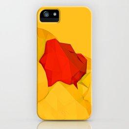 red gem of the golden mountain iPhone Case