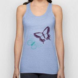 Butterfly pattern 008 Unisex Tank Top