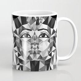 Black and White Tutankhamun - Pharaoh's Mask Coffee Mug