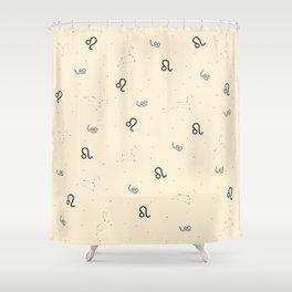 Leo Pattern - Beige Shower Curtain