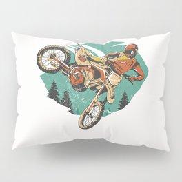 Freestyle Motorcycle Stunts FMX Pillow Sham