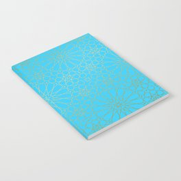 Moroccan Nights - Gold Teal Mandala Pattern - Mix & Match with Simplicity of Life Notebook