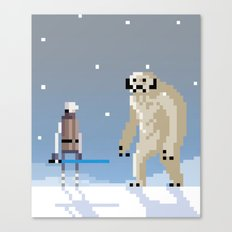 Luke Vs. Wampa Canvas Print