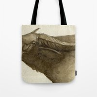 buffalo Tote Bags featuring Buffalo by Vito Quintans