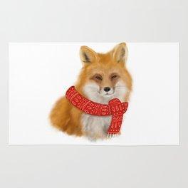 Christmas fox! Rug