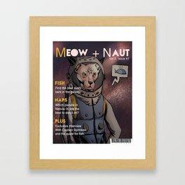 Meow Naut Print 02 Framed Art Print